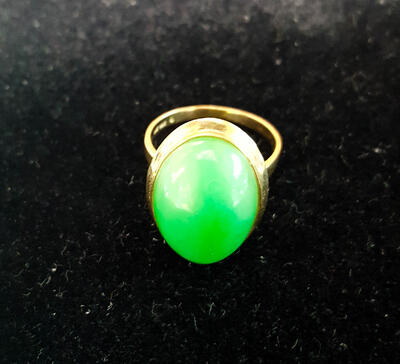 Vintage ring with partially open backing