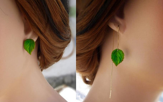 Asymmetrical Earrings.