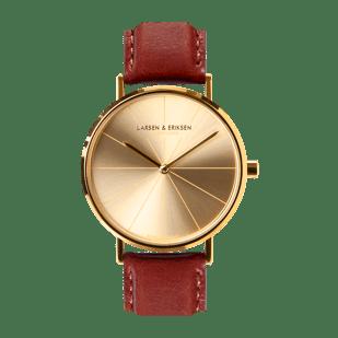 Danish design watch 37 mm Gold-Gold-Brown LARSEN & ERIKSEN