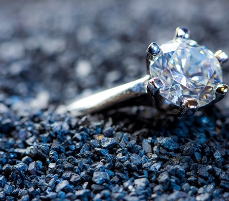 diamond in gravel