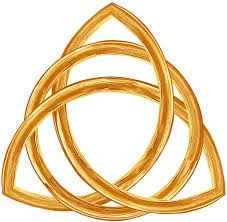 The famous trinity knot is of old Irish descent