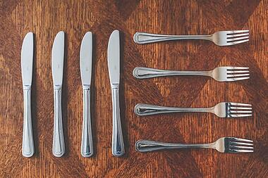 buying silver tableware