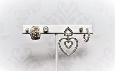 mismatched diamond earrings
