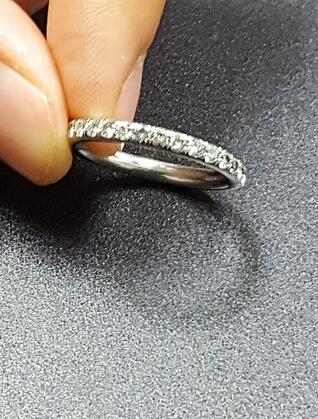 pave band for your diamond engagment ring